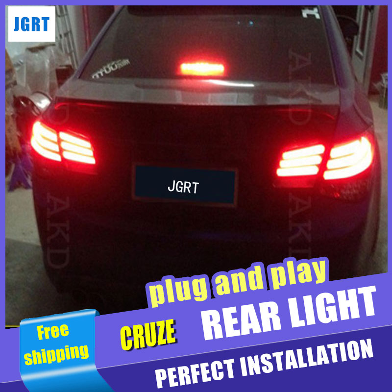 A&T Car Styling for Chevrolet Cruze Taillights 5-Series Design Cruze LED Tail Light Rear Lamp DRL+Brake+Park+Signal
