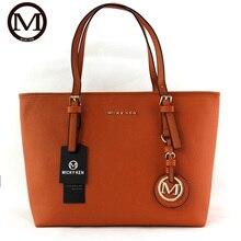 MICKY New Fashion Women PU Leather Handbag High Quality Shopping Bag Large Shoulder Bag