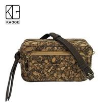 KAOGE Luxury Vegan cork mini Waist packs for women fanny pack Handmade fashion wood female waist bag belt 2019 цена