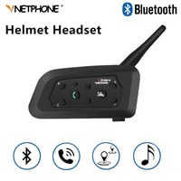 V6 Multifunction Motorcycle Intercom Intercomunicador 1200 M Helmet Speaker Bluetooth Headset for 6 Riders Interphone MP3 GPS