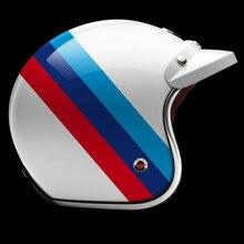 TOP Original Motorcycle Casco Real France Ruby Helmet 3/4 Open Face Scooter Helmet Vintage Harley Jet Motorcycle Helmet