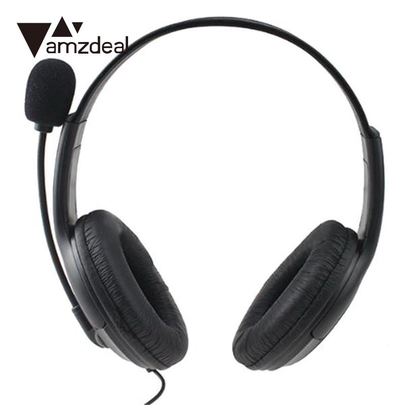 amzdeal high quality wired chat gaming stereo headset. Black Bedroom Furniture Sets. Home Design Ideas