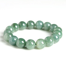 Natural Myanmar Emerald Bracelets Drop Shipping Luck Amulet  Jade Stone For Men And Women Gift
