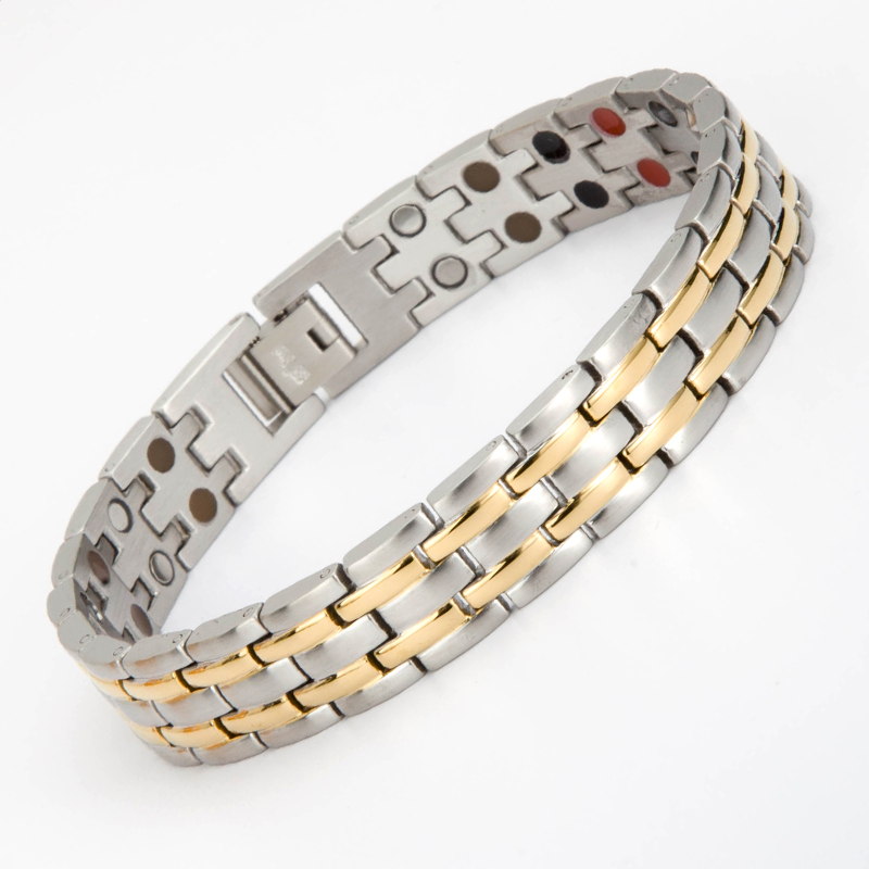 316L Stainless Steel Health Bracelet Bangle For Men Jewelry Magnetic germanium FIR Negative ion Hand Chain Bracelets byriver healthcare black tourmaline stone health bracelet germanium negative ion energy hand chain for men women size 57 64mm