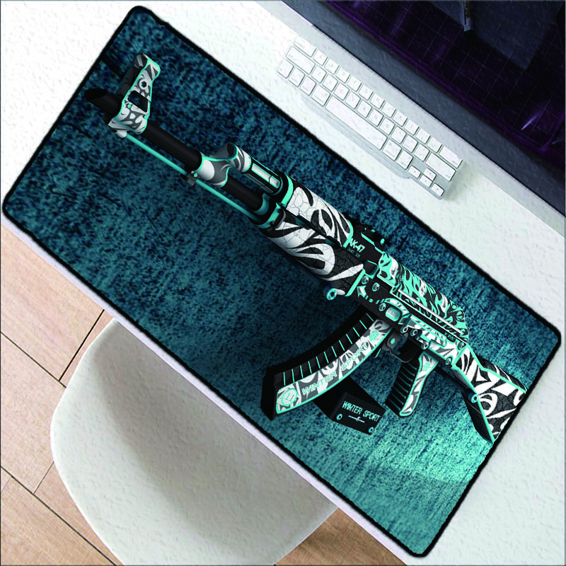 Large Size 400X900MM Green Gaming Mouse Pad Laptop Keyboard Pad High Quality Game Gun Rubber Speed Pad for CSGO