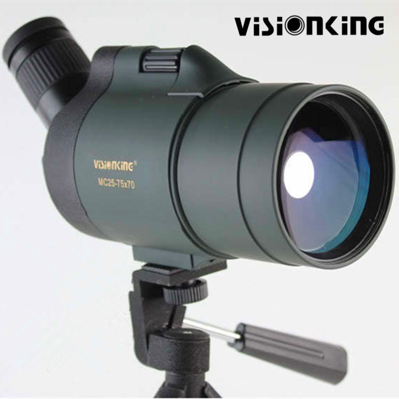 Visionking 25 75x70 Waterproof Hunting Spotting Scope Optic Sight Monocular Telescope For Birdwatching Golf Shooting With