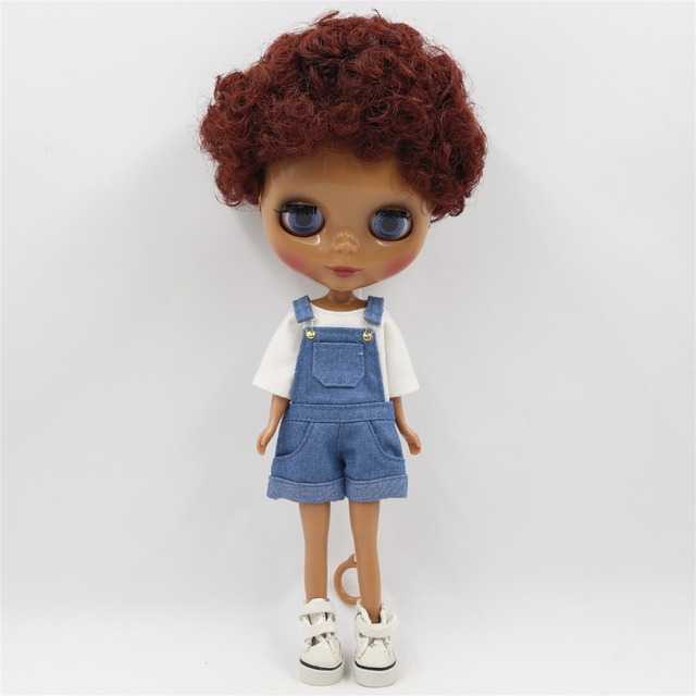 TBL Neo Blythe Doll Curly Red Brown Hair Regular Body