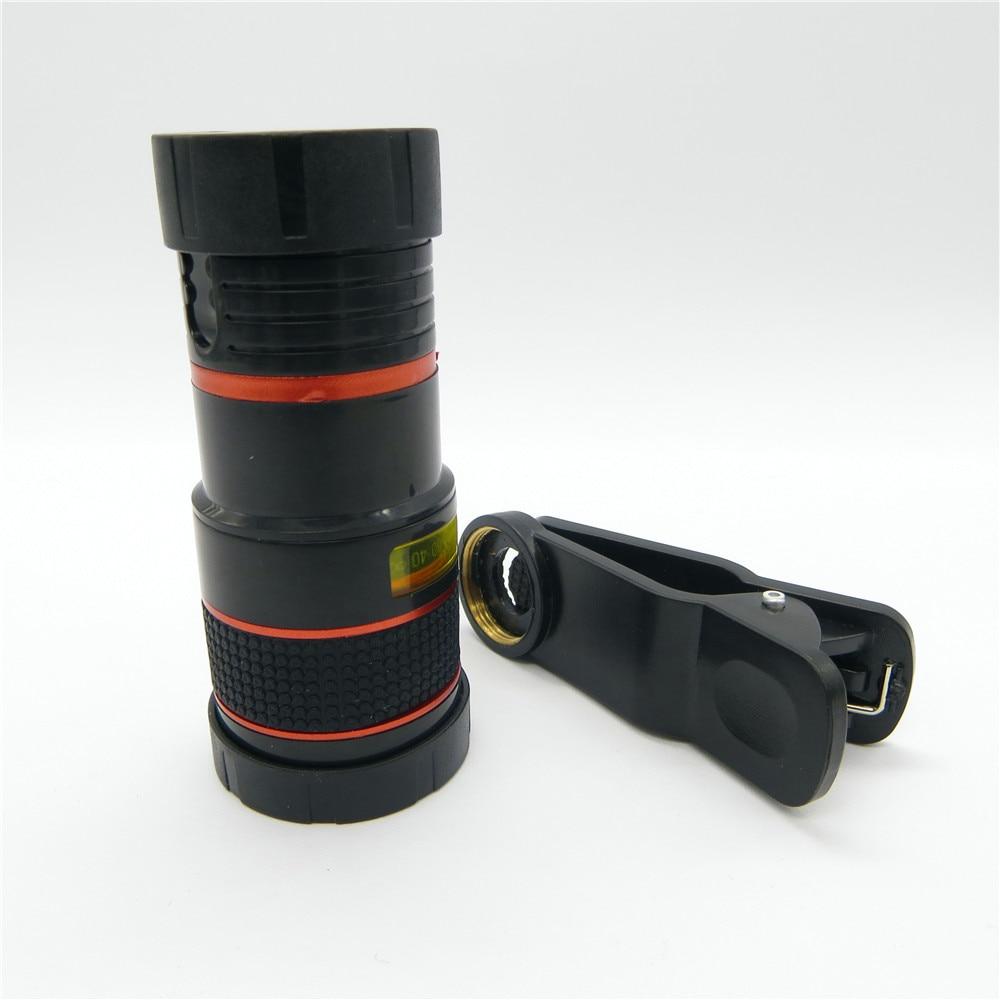 Universal 8X Zoom óptico Telescopio Cámara Lente Clip Teléfono - Accesorios y repuestos para celulares - foto 5