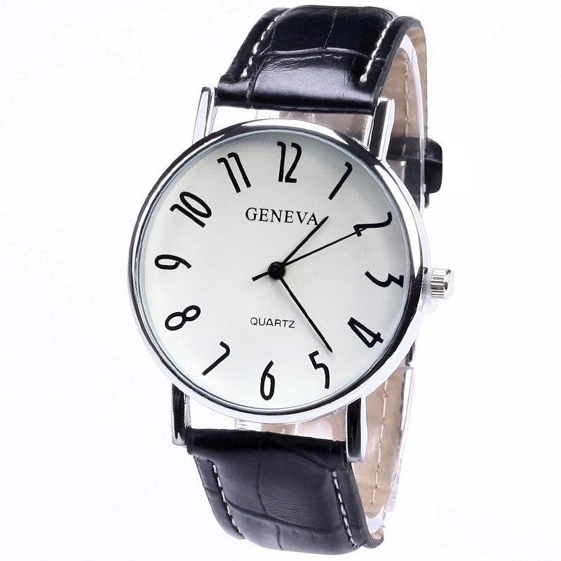 Top geneva luxury pu leather retro old vintange fashion - Relojes de pared retro ...