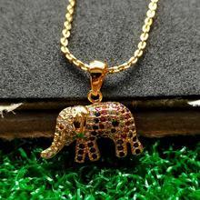 Newest Designer Elephant Necklaces For Women Copper Rose Gold Rhinestone Elephant Pendant Necklace Choker Collier Bijoux Jewelry