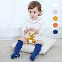 Гольфы для малышей, гетры для маленьких девочек, хлопковые милые Нескользящие Гольфы с рисунком, детская одежда, носки унисекс для малышей