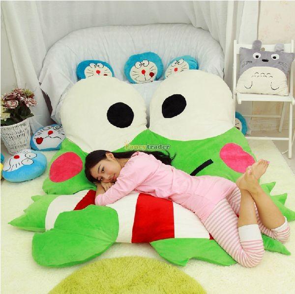 Fancytrader  180cm X 165cm Soft Funny Giant Big eye Frog Bed Carpet Tatami Sofa, FT50317 (12)