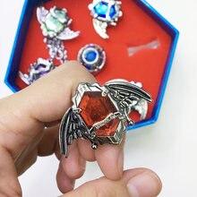 Katekyo Hitman Reborn Sawada Tsunayoshi 2 estilo anéis anel de Moda jóias pingente partido Cosplay 7 pcs Para O Presente