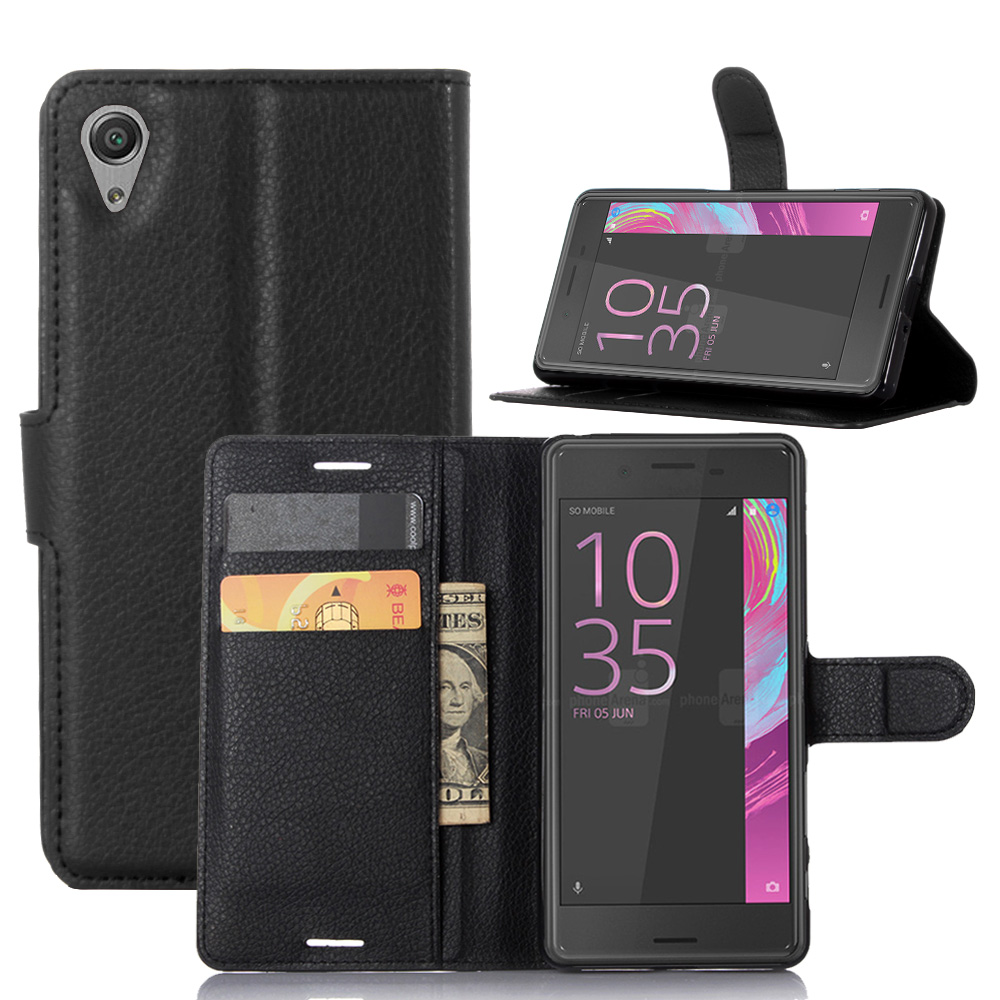 HUDOSSEN For Sony Xperia X Performance Phone Cases Stand Wallet Flip PU Leather Case Card Holder Cover For Xperia X Performance