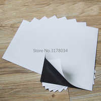 A4 5Sheets Flexible self adhesive soft rubber Magnetic Sheet board 0.5mm For DIY Art Photo Spellbinder Dies/Craft 297x210x0.3mm