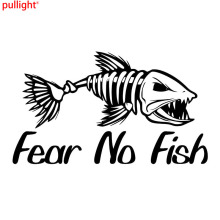 Fear no fish skillet cool vinyl decal car truck boat bumper window sticker