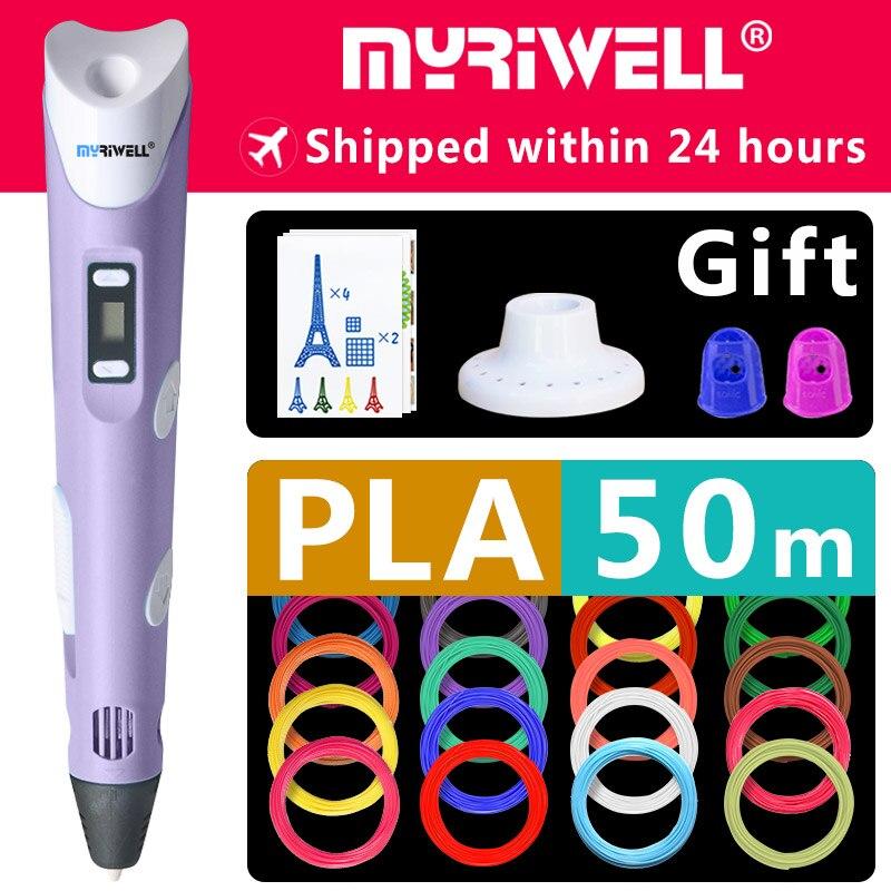 myriwell 3d pen 3d pens,1.75mm ABS/PLA Filament, 3d model,new Year gift 3d magic pen,Kids birthday present Christmas present
