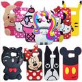 3D Cute Cartoon Miceky Rainbow Horse Unicorn Pig Tiger Soft Silicone case cover For Samsung Galaxy S7 / S7 Edge Phone Cases