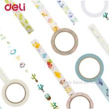Deli Wholesale Creative Colorful adhesive masking tape set DIY Scrapbooking Sticker Label decorative school supplies stationery
