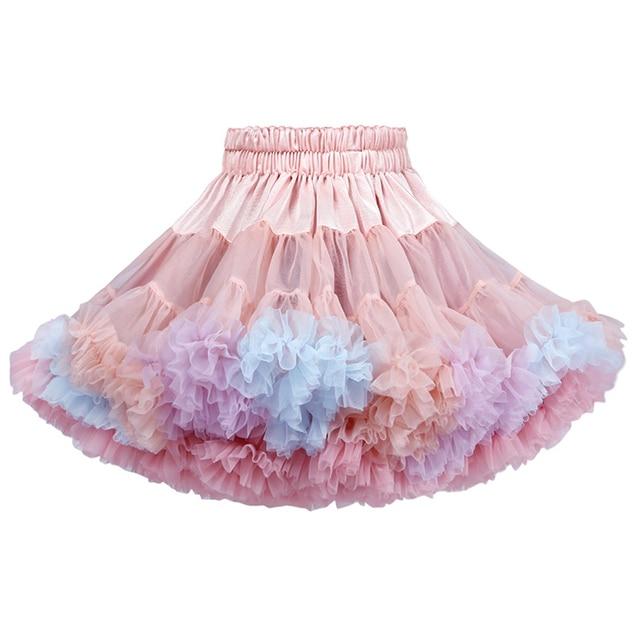 חדש שמלת ab שני לובש נסיכת שמלת ילדי תינוק מתנת יום הולדת pettiskirt בנות חצאית חצאית שמלה