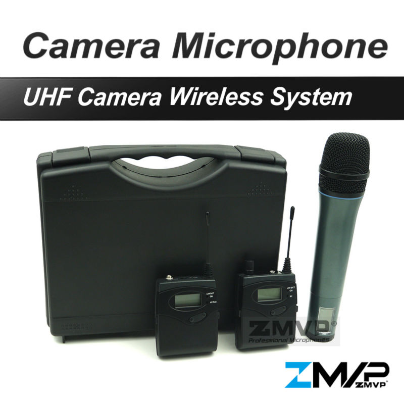 Free Shipping! 1038 G2 Wireless Microphone System with Bodypack Handhold Transmitter For DV DSLR Camera Camcorder Interview
