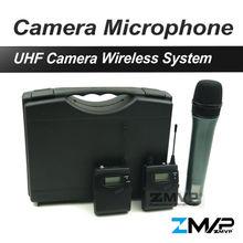 El Envío Gratuito! 1038 G2 Sistema de Micrófono Inalámbrico con Transmisor Bodypack Asidero Para DV DSLR Cámara Videocámara Entrevista
