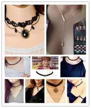 multi Styles Choose Punk Gothic Choker Neckalce for Women Girls Gift Cool Cross Skull Lace Colar Short Necklace Jewelry Accessor(China)