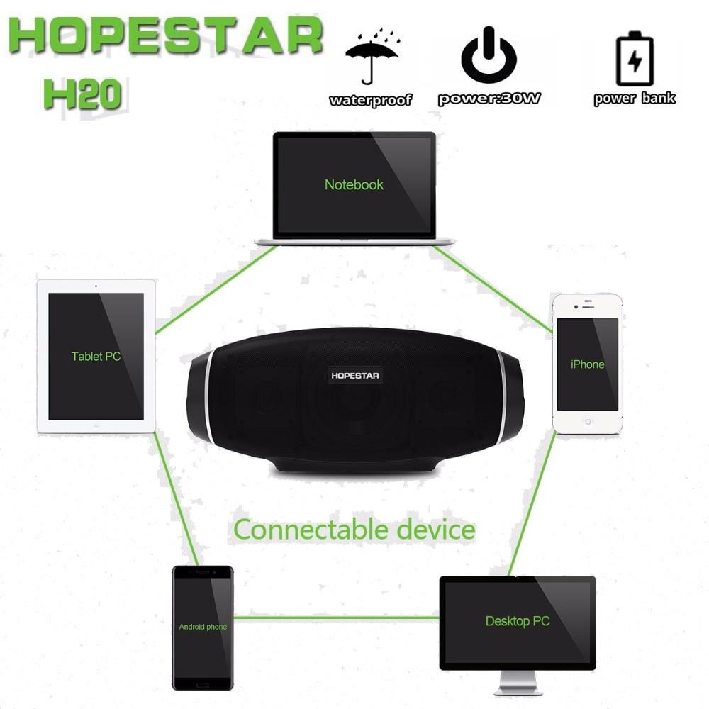 Image 5 - Hopestar Rugby Bluetooth haut parleur étanche basse colonne sans fil Portable TV ordinateur boîte de son extérieure boombox stéréo SubwooferEn plein air Haut-parleurs   -