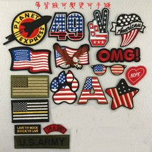 DOUBLEHEE Flag Element Patches Embroidered Iron On Patch For Clothing Sticker Paste Clothes Bag Pants