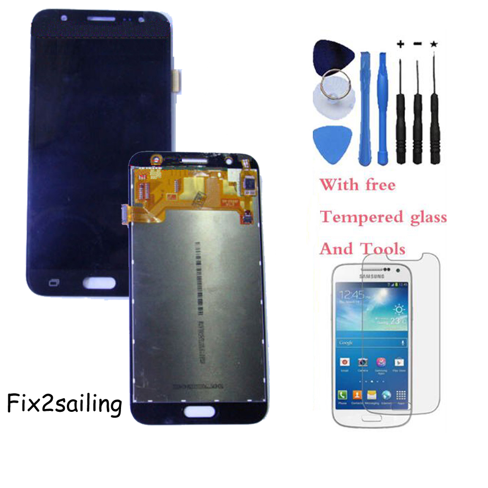 OEM LCD Display Touch Screen Digitizer Assembly For Samsung Galaxy J5 J5008 17Pin White/Black/Gold With Tempered Glass+Tools