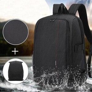 Image 4 - Torba na aparat plecak wodoodporny DSLR plecak wielofunkcyjny plecak na zewnątrz torba na aparat fotograficzny dla Nikon aparat Canon obiektyw DSLR