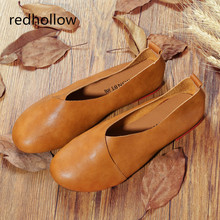 Flat Shoes Woman Leather Loafers Soft Spring Casual Shoes Ladies Flats Comfort Slip on Vintage Women Shoes Plus Size 43 зеркало jacob delafon formilia 40 eb1044 nf подвесное