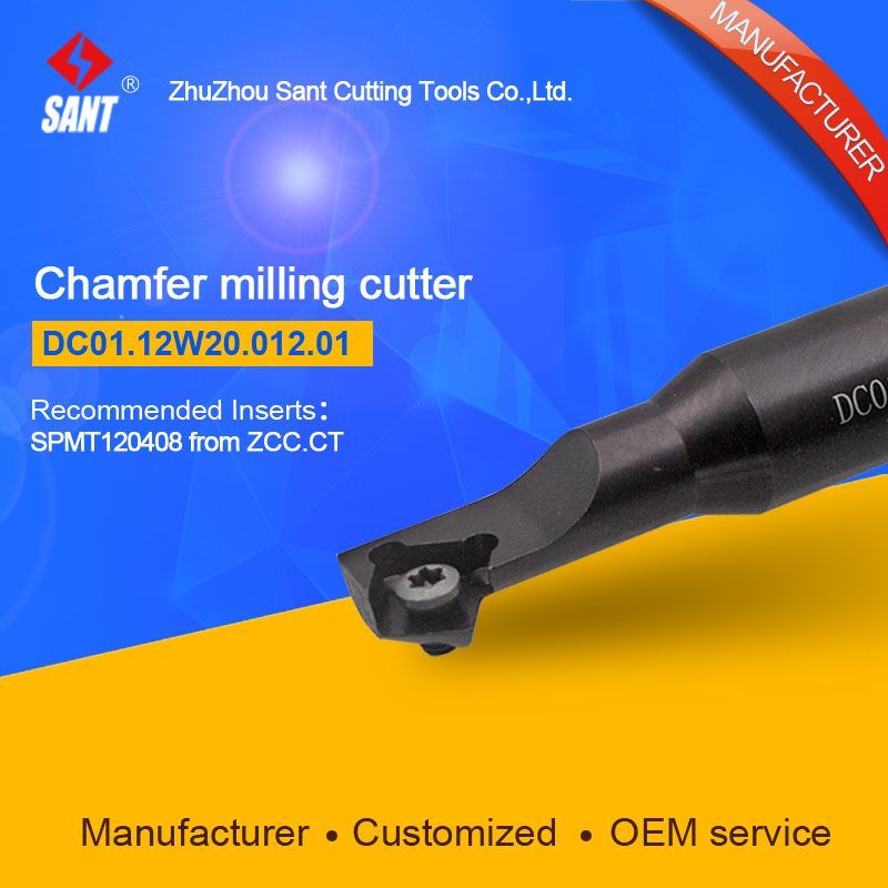 Refer to CMD01-012-XP20-SP12-01 or DC01.12W20.012.01 Chamfer Milling Tools for Inserts SPMT120408 refer to cmz01 032 g32 sp12 03 or zc01 12z32 032 03 chamfer milling tools for inserts spmt120408