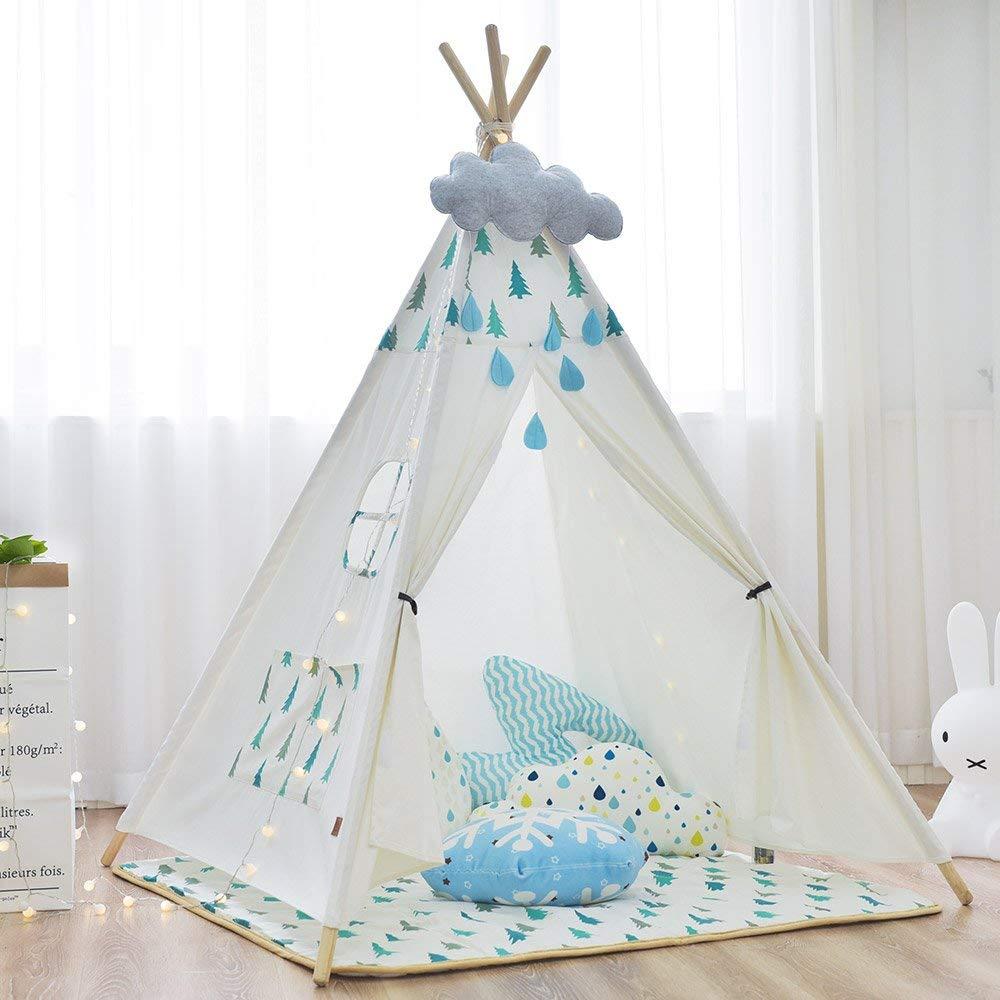 Toile de coton enfants jouent tente Tipi indien tente Tipi Wigwam sans tapis