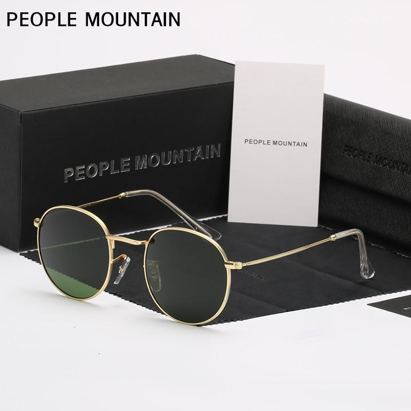 Luxury Round Sunglasses Women Brand Designer 2018 vintage Sunglasses Driving Sun Glasses For Men Female Sunglasses Mirror 3447