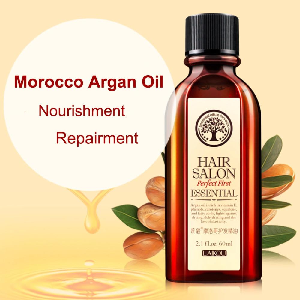 Top 60ml Morocco Argan Oil Haircare Essential Oil Nourish Scalp Repair Dry Damage Hair Treatment Glycerol Nut Oil Hairdressing yamaha valve oil light 60ml 03u