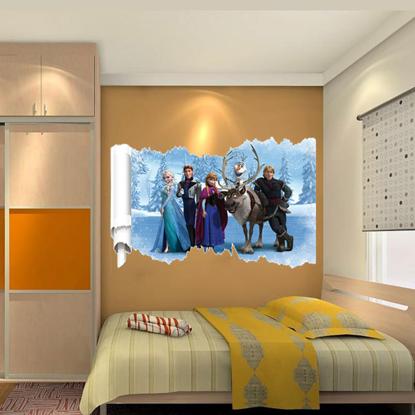 Reine des neiges autocollant de dessin anim d coration for Stickers chambre d enfant