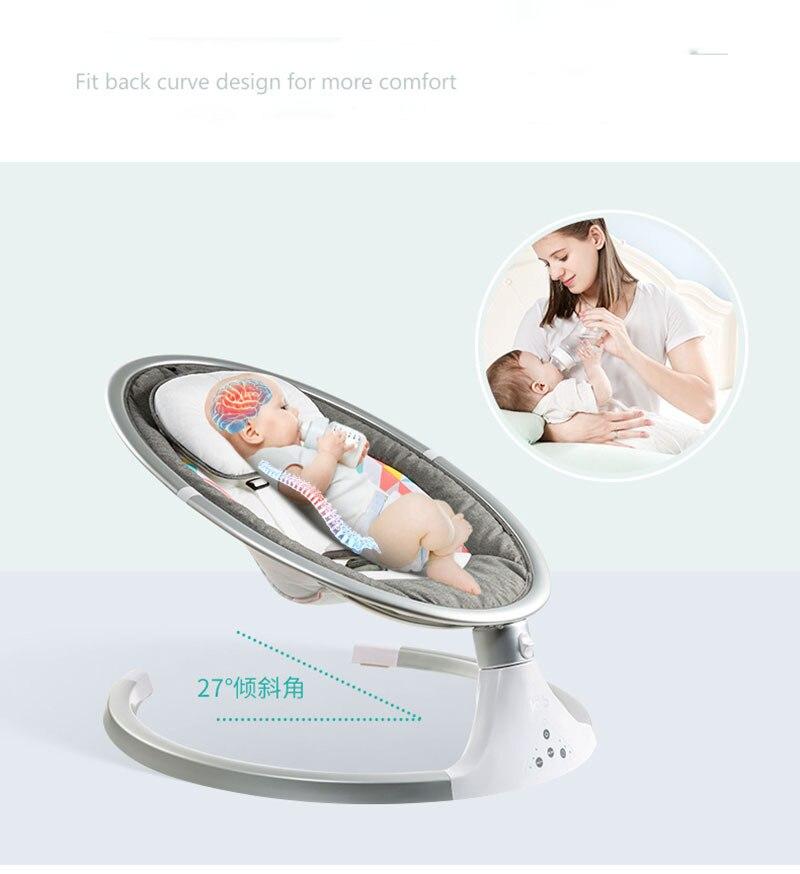 Multifonctionnel bébé berceau inclinable LazyComfort chaise nouveau-né Non-électrique bébé bébés dormeur balançoire chaise bébé chaise à bascule - 5