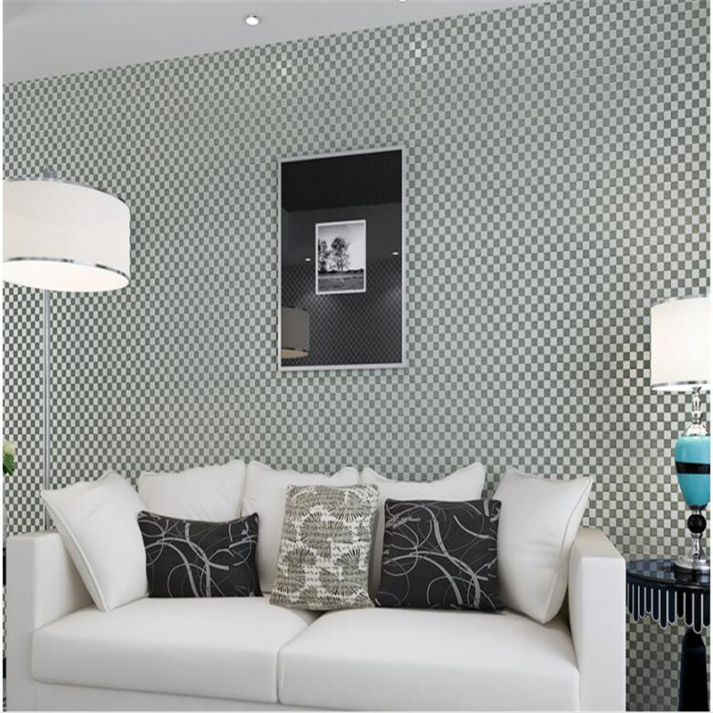 Beibehang 3D Three Dimensional Non Woven Wallpaper Elegant Ya Square Grid Wallpaper  Living Room Background Wallpaper In Wallpapers From Home Improvement On ...