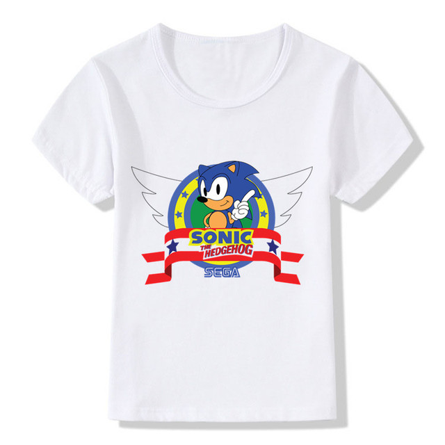 142a7fc1 Children Fashion Sonic The Hedgehog Cartoon Design Funny T-Shirts  Boys/Girls Tops Tees Kids Casual Clothes For Toddler,HKP5138