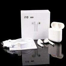 I10 СПЦ мини air pod Беспроводной наушников BT5.0 Bluetooth наушники i9tws Беспроводной гарнитуры в ушной динамик для apple/xiaomi huawei