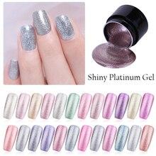 LEMOOC Gel Nail Polish Set Shiny Platinum Nails Art For Manicure Poly UV Lak Colors Top Base Coat Primer Hybrid Varnishes