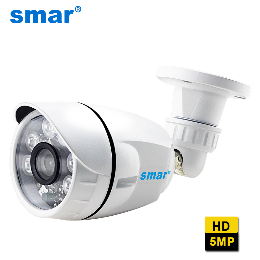 Smar H.265 5MP IP Camera 6PCS Nano IR LED 15-25M IR Distance Night Vision Outdoor Waterproof Surveillance Camera Motion DetectSmar H.265 5MP IP Camera 6PCS Nano IR LED 15-25M IR Distance Night Vision Outdoor Waterproof Surveillance Camera Motion Detect