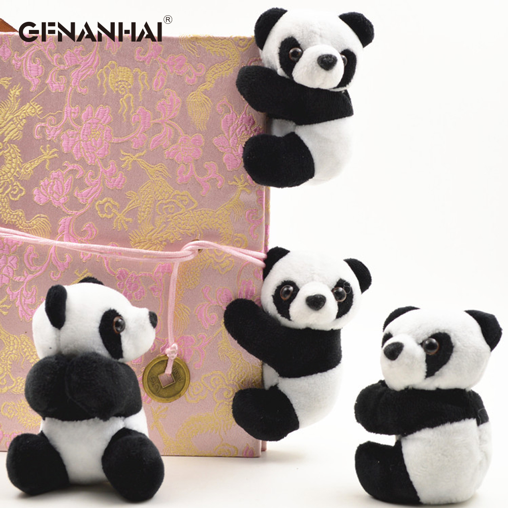 1 Pc 10cm Creative Plush Panda Clip Small Stuffed Animal Toy Curtain Clip Bookmark Notes Souvenir Toys For Children Baby Gifts To Clear Out Annoyance And Quench Thirst