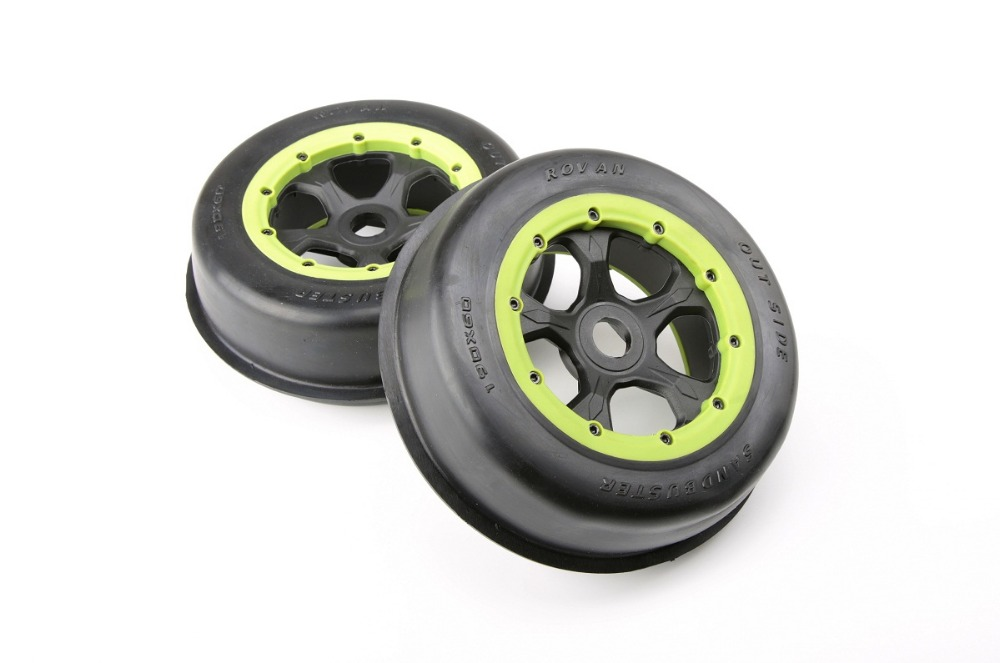 Desert tire front tire assembly for 1/5 hpi rovan km baja 5t 5sc rc car parts gtbracing alloy frame chassis for 1 5 rc car hpi rovan km baja 5b 5t 5sc parts