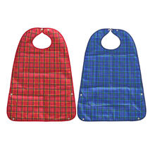 2pcs Waterproof Bib Adult Mealtime Clothing Protector Disability Aid Apron