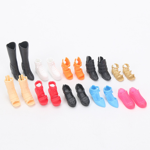 Fashion Barbie Doll Shoes 10 pcs Set