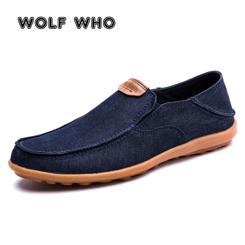 Men Casual Canvas Shoes Loafers Breathable Flats Driving Deck Boat Slip On Comfy
