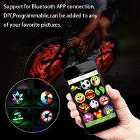 CYCPLUS Waterproof Smart Bluetooth Bike Bicycle Wheel LED Light App Remote Control Bike Wheel Spoke Light