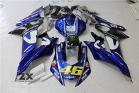 Motorcycle fairings For YZF R6 2017 2018 Yamaha YZF R6 Fairing Set 17 18 injection good qulaity free seat cover 46